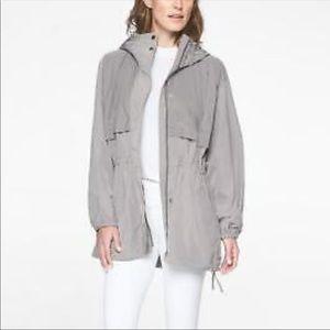 Athleta Gray Rain Jacket L/XL